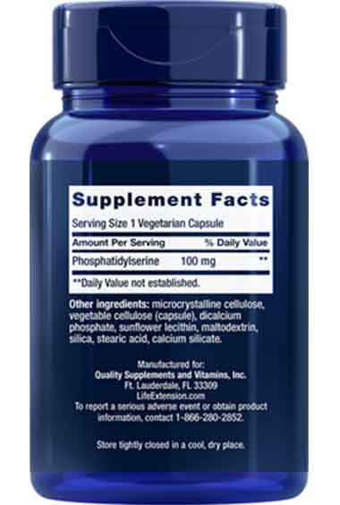 PS - Fosfatidylserine (100 veg caps)