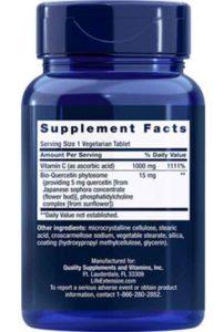 Vitamine C & Bio-Quercetine (250 veg tabs)
