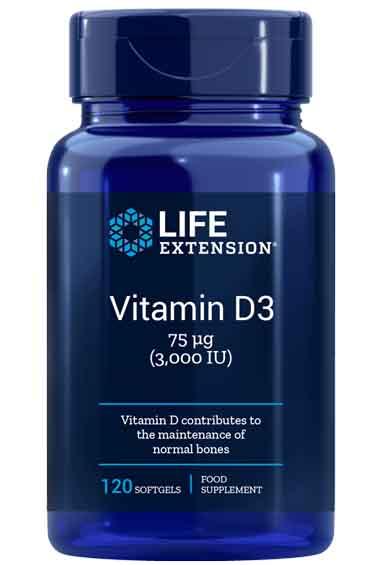 Vitamine D3 - 3000 IU (120 softgels)