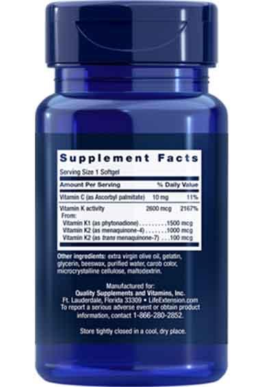 Vitamine K met K2 (90 caps)