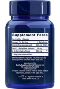 Glutathion, Cysteïne & Vitamine C (100 caps)
