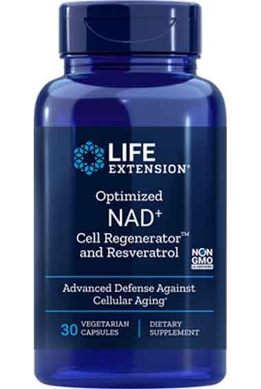 Optimized NAD+ Cell Regenerator + Resveratrol (30 veg caps)