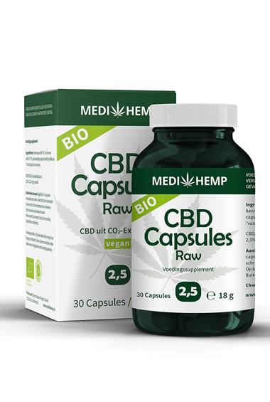 CBD capsules Raw 2,5% - Bio (30 caps)