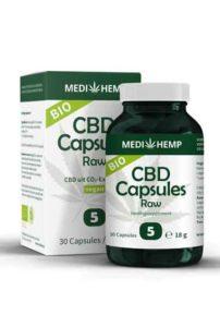 CBD capsules Raw 5% - Bio (30 caps)