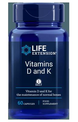 Vitamine D en K (60 veg caps)