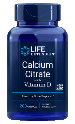 Calcium Citraat + Vitamine D (200 caps)