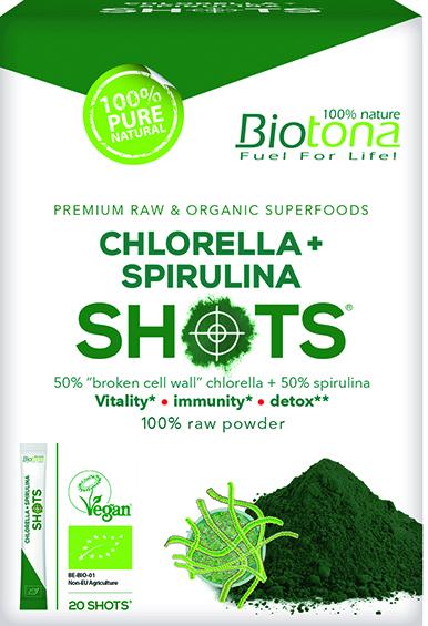 Chlorella + Spirulina Shots (20 x 2 g)