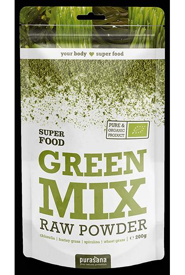 Purasana Green Mix Raw Powder (200 g)