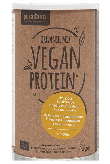 Purasana Vegan Proteïne Mix - Banaan & Vanille (400 g)